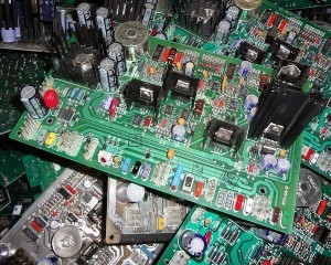 Scrap computer ciruit boards